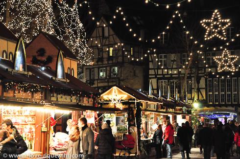 Colmar, Alsace. Evening in December