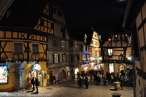 Riquewihr on a Sunday evening of December 2012