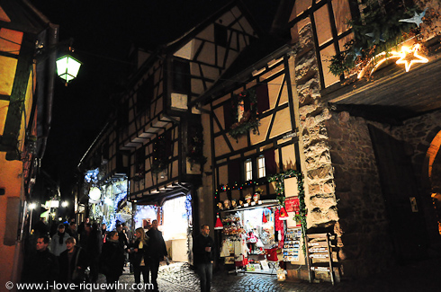 Upper part of the rue des Remparts, Riquewihr Alsace