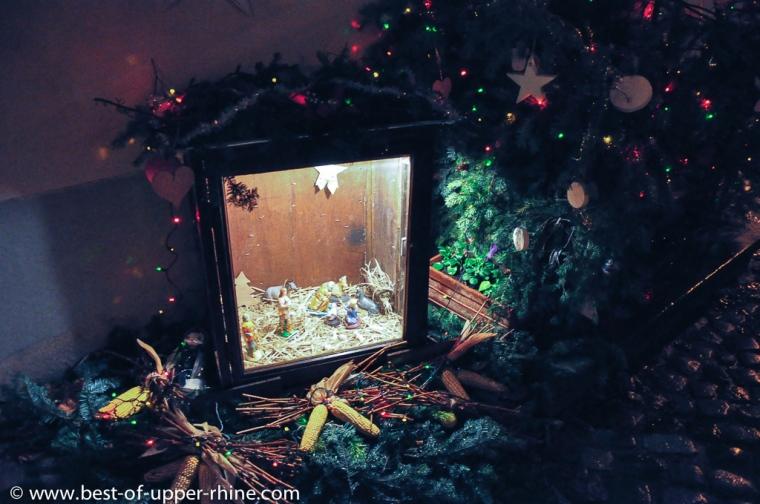 Crèche de Noël à Bergheim, Alsace.