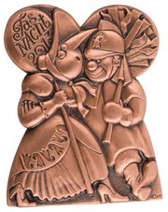 L'insigne du Carnaval de Bâle 2013.
