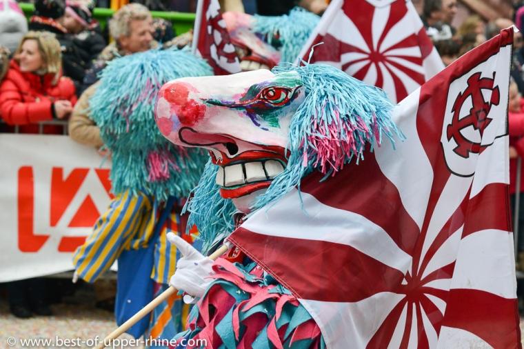 Carnaval de Mulhouse. Défilé du 60e anniversaire.