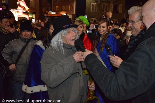 """Carnaval de Sélestat, Alsace. Remise des clés de la ville aux """"fous"""""""