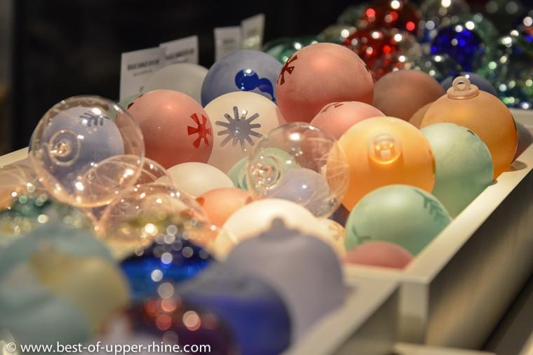 Boules de Noël des verriers de Meisenthal