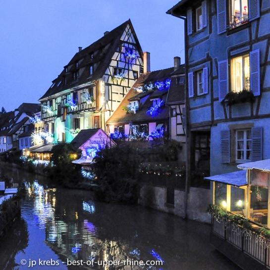 La Petite Venise à Colmar à la période de Noël.