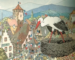 Cigogne, ma belle reine d'Alsace!