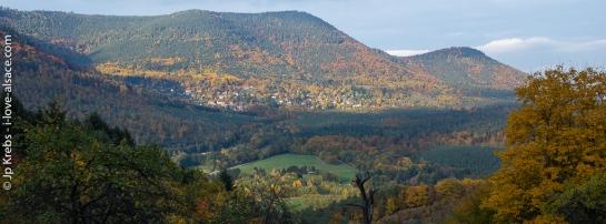 Panorama sur le massif de l'Altenberg et La Vancelle