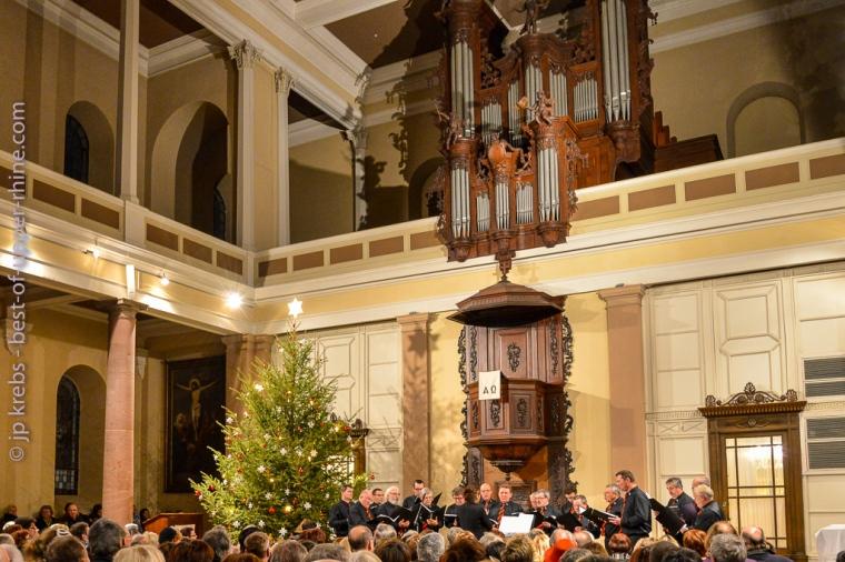 Concert du Chœur d'Hommes de Riquewihr au temple protestant.