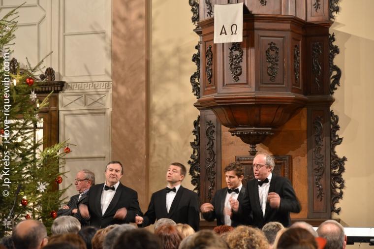 Concert du Quartett de Saint-Petersbourg au temple protestant de Riquewihr en décembre 2012