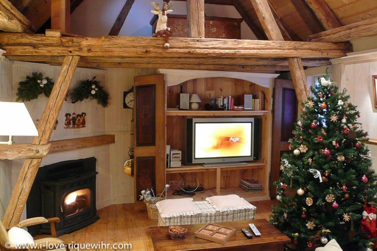 Le salon de la maison du Colombier à Riquewihr