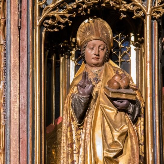 Retable de saint Pancrace, saint Nicolas et sainte Catherine à la cathédrale de Strasbourg.