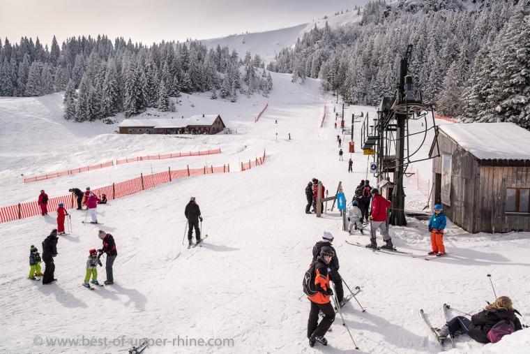 La station de ski du Tanet dans les Hautes Vosges.