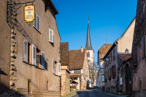 La rue principale de Mittelbergheim