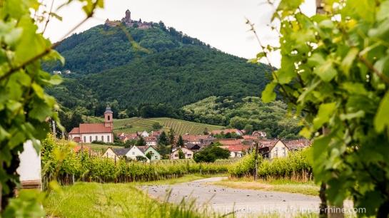 Le village d'Orschwiller au pied du château du Haut-Koenigsbourg