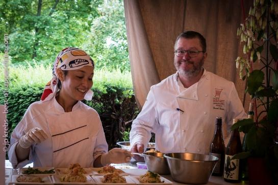 Daniel Zenner et la Chef Japonnaise Asako Hattori (Paris)