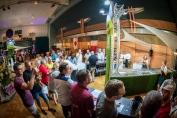 Les vins d'Alsace proposés à la dégustation étaient regroupés par cépages en 3 stands !