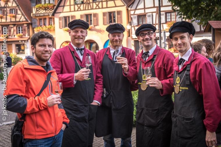 Cyril Roux en compagnie de quelques Bienheureux du Frankstein