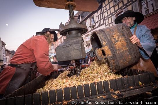 6 tonnes des pommes au total seront pressées !