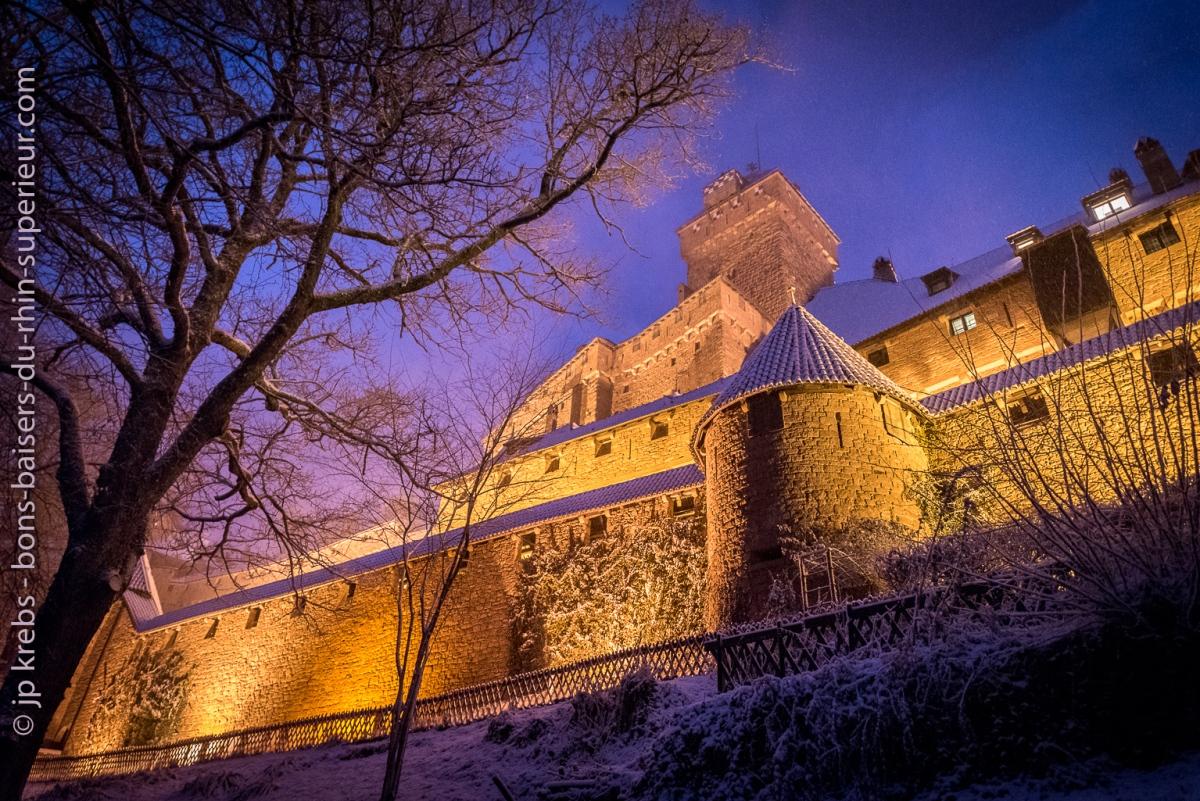 Un château sous la neige…