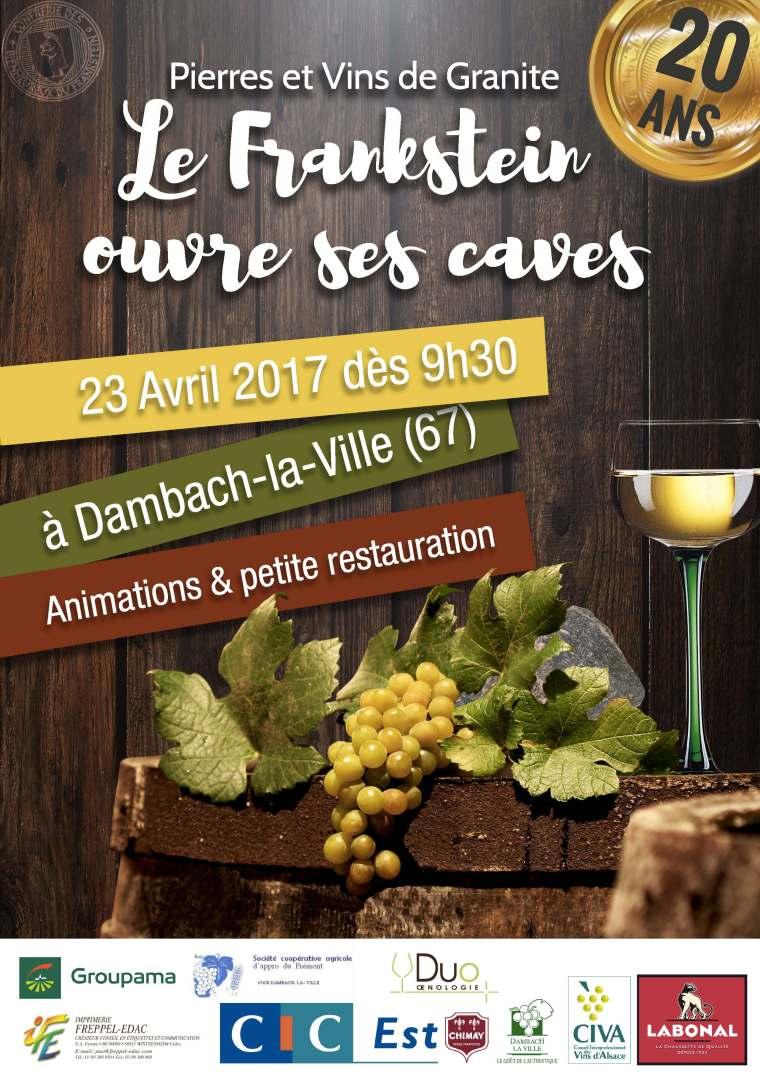 Affiche de la 20e édition de Pierres et Vins de Granite à Dambach-la-Ville