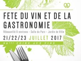 A Ribeauvillé, la Foire aux Vins et de la Gastronomie 2017, c'est ce week-end!