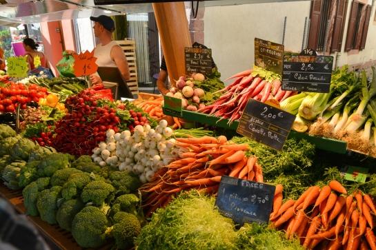Grand marché de Sélestat, le mardi matin.