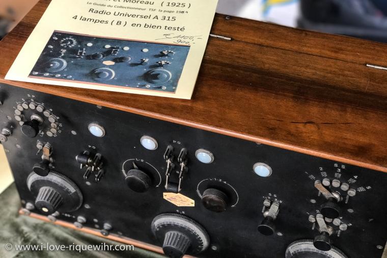 Poste radio à lampes Moreau 1925 en état de marche.